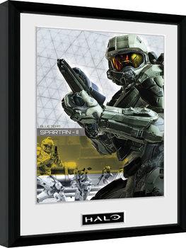 Halo 5 - Spartan uokvireni plakat - pleksi