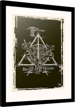 Uokvireni poster Harry Potter - Deathly Hallows Symbol