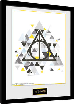 Uramljeni poster Harry Potter - Deathly Pixels