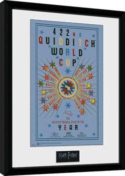 Uramljeni poster Harry Potter - Quidditch World Cup 2