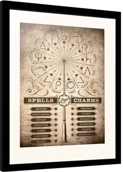 Uokvireni poster Harry Potter - Spells and Charms