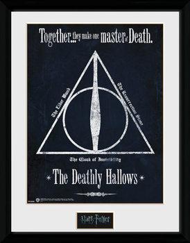 Harry Potter - The Deathly Hallows uokvireni plakat - pleksi