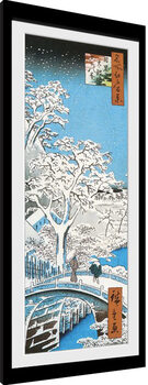 Uramljeni poster Hiroshige - The Drum Bridge