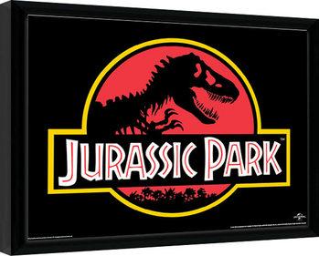Uramljeni poster Jurassic Park - Classic Logo