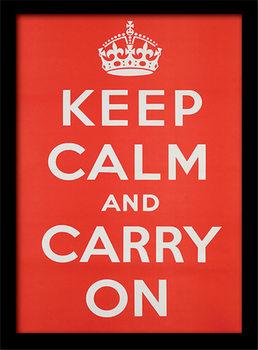 Keep Calm and Carry On uokvireni plakat - pleksi
