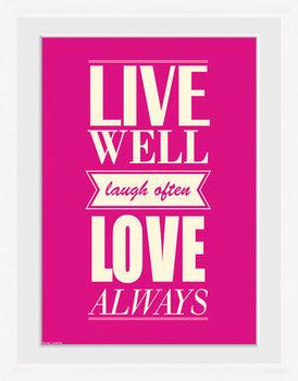 Live - Love Uramljeni poster