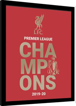 Uramljeni poster Liverpool FC - Champions 19/20