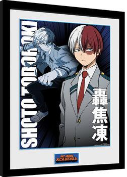 Uramljeni poster My Hero Academia - Shoto Todorki
