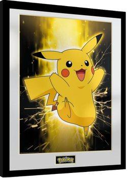 Uramljeni poster Pokemon - Pikachu