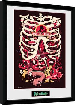 Uramljeni poster Rick and Morty - Anatomy Park