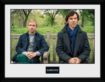 Sherlock - Park Bench uokvireni plakat - pleksi