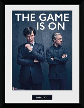 Sherlock - The Game Is On uokvireni plakat - pleksi