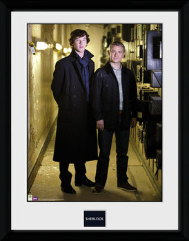 Sherlock - & Watson Portrait uokvireni plakat - pleksi