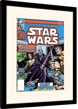 Uokvireni poster Star Wars - Ben Kenobi Fights Alone
