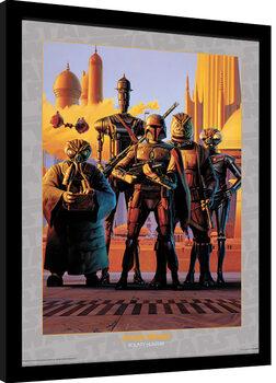 Uramljeni poster Star Wars - Bounty Hunters