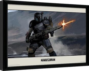 Uramljeni poster Star Wars: The Mandalorian - Shoot