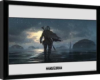 Uramljeni poster Star Wars: The Mandalorian - Storm