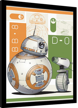 Uokvireni poster Star Wars: The Rise of Skywalker - BB8 And D-O