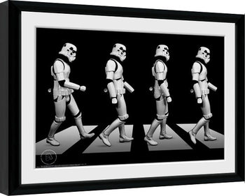 Uramljeni poster Stormtrooper - Crossing