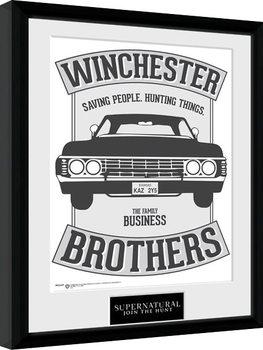 Uramljeni poster Supernatural - Winchester