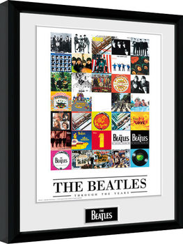 Uramljeni poster The Beatles - Through The Years