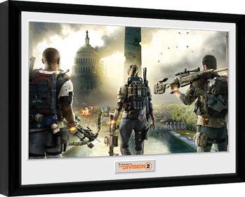 Uramljeni poster The Division 2 - Landscape