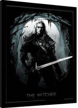 Uramljeni poster The Witcher - Lair of the Beast