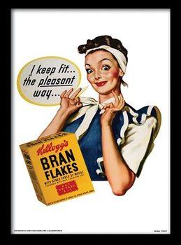 VINTAGE KELLOGGS - i keep fit uokvireni plakat - pleksi