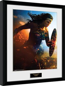 Uramljeni poster Wonder Woman - Run