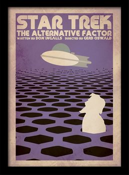 Star Trek - The Alternative Factor Uokvireni plakat - pleksi