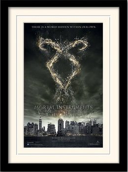 THE MORTAL INSTRUMENTS CITY OF BONES – rune  Uokvireni plakat - pleksi