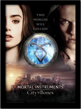 THE MORTAL INSTRUMENTS CITY OF BONES – two worlds  Uokvireni plakat - pleksi
