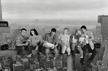 Friends - Lunch On A Skyscraper Uokvireni plakat
