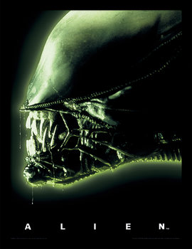 Aliens - Head Green Uokvirjeni plakat