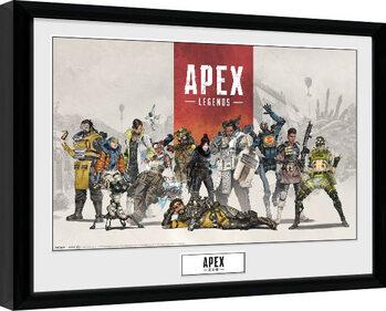 Uokvirjeni plakat Apex Legends - Group