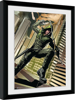 Uokvirjeni plakat Arrow - Cover Green