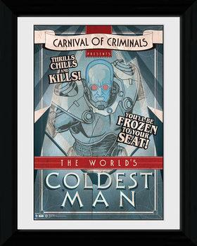 Batman Comic - Circus Coldest Man uokvirjen plakat-pleksi