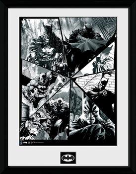 Batman Comic - Collage uokvirjen plakat-pleksi