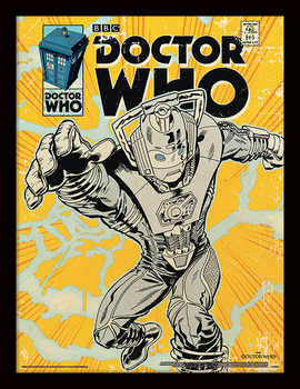 Doctor Who - Cyberman Comic Uokvirjeni plakat