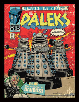 Doctor Who - The Daleks Comic Uokvirjeni plakat
