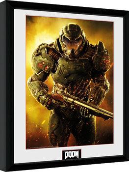 Uokvirjeni plakat Doom - Marine
