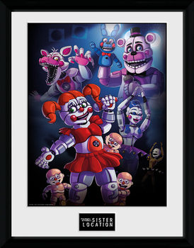 Five Nights at Freddys - Sister Location Group Uokvirjeni plakat