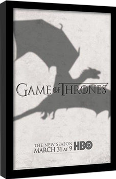 GAME OF THRONES 3 - shadow Uokvirjeni plakat