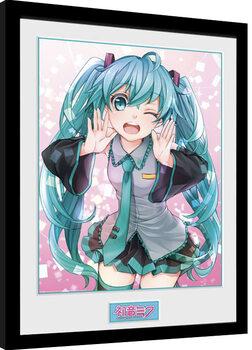 Uokvirjeni plakat Hatsune Miku - Wink
