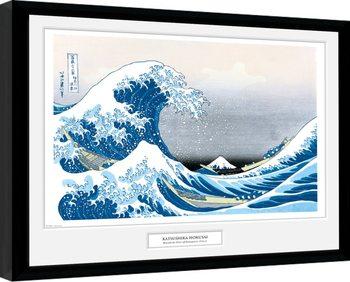 Uokvirjeni plakat Hokusai - Great Wave