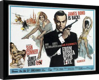 Uokvirjeni plakat James Bond - From Russia With Love 1