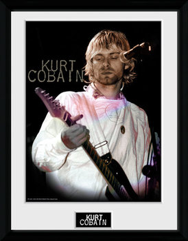 Kurt Cobain - Cook uokvirjen plakat-pleksi