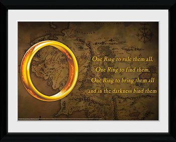 Uokvirjeni plakat Lord Of The Rings - One Ring