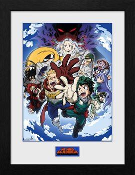 Uokvirjeni plakat My Hero Academia - Season 4 Key Art 2