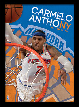 NBA - Carmelo Anthony uokvirjen plakat-pleksi